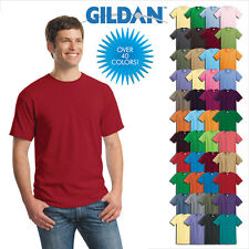 Gildan Plain T Shirts Solid Cotton Short Sleeve Blank Tee Top Shirts S-3XL