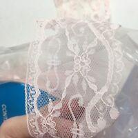 Vintage Floral Lace Trim Edging Pink Heirloom 70mm Scallop Pm