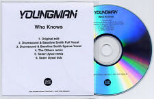 YOUNGMAN Who Knows Remixes UK 6-track promo test CD