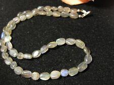 Halskette 100% natur Mondstein Perlen Schmuck Mode Stein 41 cm