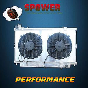 2 Row Aluminum Radiator + Fan Shroud For Holden Commodore VE V8 6.0L 2006-2013