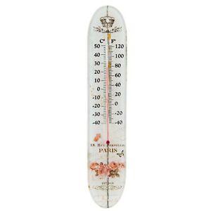 Thermometer Glas Paris Rosen Krone 18,rue Pernelle vintage  Clayre & Eef 63537