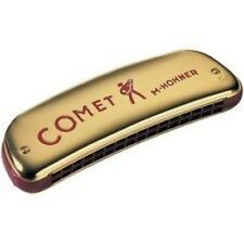HOHNER COMET 2503/32 OCTAVE TREMOLO TUNED 16-HOLE HARMONICA IN THE KEY OF C