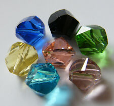 30pcs 9mm Helix Faceted Crystal Beads - Mixed