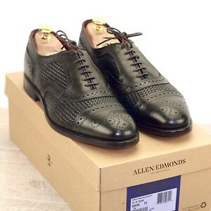 * NIB * $455 Allen Edmonds STRAND WEAVE 10 D Burnished Olive * new Trees AE Bags