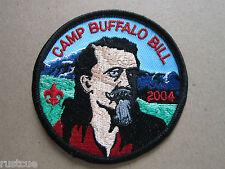 Camp Buffalo Bill 2004 Woven Cloth Patch Badge Boy Scouts Scouting