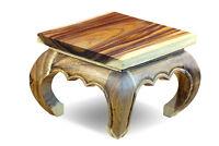 Beistelltisch Holz Opium Tisch Massivholz Wohnzimmer Holztisch 35 cm Blumentisch