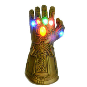 Thanos Avengers Endgame Infinity Gauntlet Latex Party Cosplay Led Light
