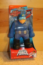 STRETCH FORCE Police Man Cop Blue Guy MAGIC TIME Action Figure Strong Arms Pull