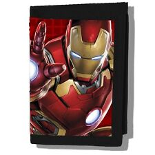 The Avengers Age of UItron Iron Man 3-D Image Tri-Fold Vinyl Wallet, NEW