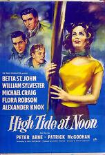 HIGH TIDE AT NOON 1957 Betta St. John, Michael Craig, Patrick McGoohan 1-SHEET