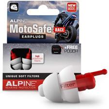 Alpine Motosafe Race Reusable Ear Plugs Motorcycle Ear Plugs Noise Reduction