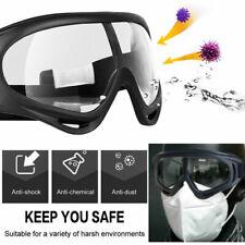 Sealed Clear Shield Goggles UV400 Eye Protection Safety Glasses Lab Work Eyewear