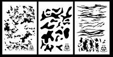 "3Pack! Camo Gun Stencils 10 Mil 14"" Camouflage - Multicam Digital Tiger Stripe"