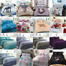 New Modern Bedding Cotton Rich Polycotton Duvet Cover Set Pillow Cases All Sizes
