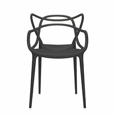 Kartell Original Masters Dining Chair Indoor or Outdoor Arm Chairs Black