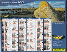 CALENDRIER ALMANACH DES PTT 2001 MONTAGNE SAINTE VICTOIRE COTE ABERS FINISTERE