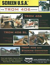 Equipment Brochure - Screen USA - TROM 406 series - Trommel Screen 2009 (E3639)