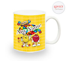 M&M's Candy Chocolate Personalised Mug Sweet Gift Christmas Halloween Cup Kids