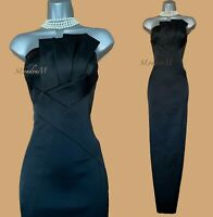KAREN MILLEN UK 12 Black Gala Wedding Long Ballgown Party Maxi Wiggle Dress