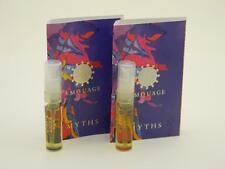 2 x Amouage Myths Woman Eau de Parfum Vial Spray 2ml New With Card