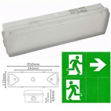 3 Hours Non & Maintained LED Emergency Bulkhead Fire Exit Light Fitting IP65 3hr