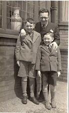 Original Edwardian Postcard Dad And Sons