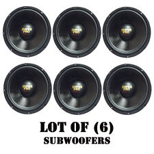 "Lot of (6) Pyramid PW848USX 8"" 350W 8 Ohm 175W RMS High Performance Subwoofers"