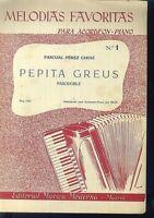 PASCUAL PEREZ CHOVI - PEPITA GREUS - Pasodoble