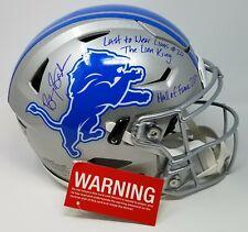 Barry Sanders Signed Detroit Lions Speed Flex FS Authentic Helmet 3 Insc COA 448