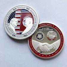 2018 Donald J. Trump & Kim Jong Un Peace Talks Summit Commemorative Coin Silver