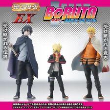 BORUTO Set of 3 BORUTO NARUTO SASUKE PVC Figure New No Box