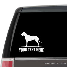 Dogo Argentino Car Window Decal - Personalized Vinyl Sticker - Argentine Mastiff