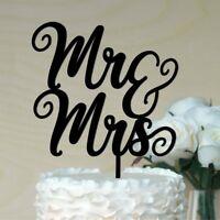 Mr /& Mrs Wedding Cake Topper ACRYLIC #12