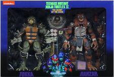 NECA Teenage Mutant Ninja Turtles Tokka and Rahzar Figures (New in Shipper Box)