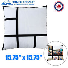 10pcs 1575 6 Grid Panel Section Photo Sublimation Blanks Cushion Pillow Cover