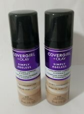 2 CoverGirl Olay Simply Ageless 3-in-1 Liquid Foundation Buff Beige 225