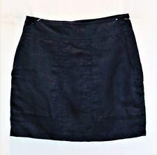 SADIE Brand Dark Blue Front Pocket Linen Mini Skirt Size 8 NEW #SJ20