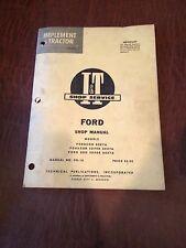 FORD FORDSON I&T TRACTOR SHOP SERVICE REPAIR MANUAL BOOK 2000 DEXTA SUPER