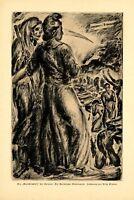 Kindermord der Entente in Karlsruhe XL Kunstdruck 1918 Erich Gruner Sensenmann +
