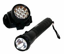 lámparas LED Set Linterna Lámpara & De Cabeza Frontal incl. Baterías Pesca