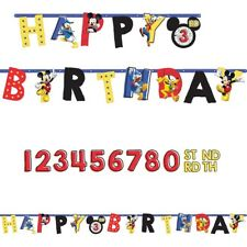 Mickey Mouse on the Go 10ft Jumbo Letter Birthday Banner Custom Age Party