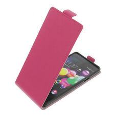 Bag for Wiko Highway Pure FLIPSTYLE Cellphone Bag Protector Cover Flip Case Pink