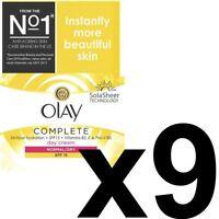 9 Olay 3In1 Day Cream Normal Dry Moisturiser SPF15 Essentials Complete Care 50ml
