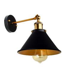 Vintage Black Metal Wall Lighting Sconce Bedroom Bedside Adjustable E27 Bulb Kit