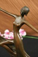 ART NOUVEAU SIGNED MILO BRONZE MODEL DANCER STATUE FIGURINE FIGURE SCULPTURE NR