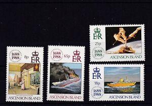 ASCENSION ISLAND MNH STAMP SET 1988 LLOYDS OF LONDON SG 474-477