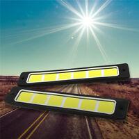 2 X 6W COB LED Panel Lampe Licht Strahler Day Time Leuchte  Warm Weiß  DC 12V^