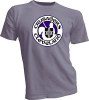 CLEVELAND CRUSADERS DEFUNCT OLD TIME WHA HOCKEY GRAY T-SHIRT NEW