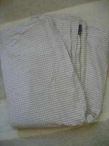 Lexington beige and white gingham king size duvet cover - Excellent condition